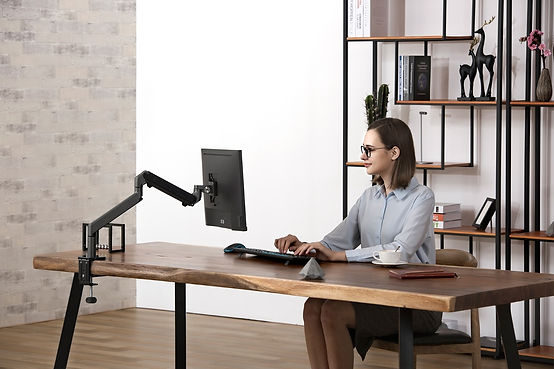 Sway Single Monitor Arm In Use