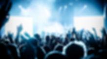 コンサートで群集を応援