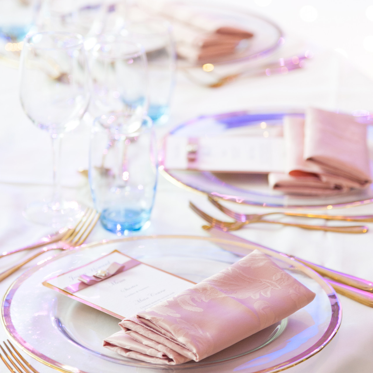 Event Decor Hire Place Setting