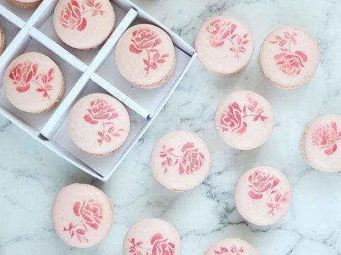 Valentine's Rose Macarons