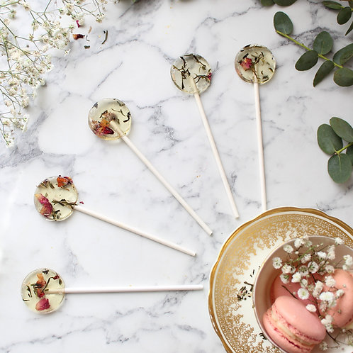 Sencha Rose Green Tea Lollipop