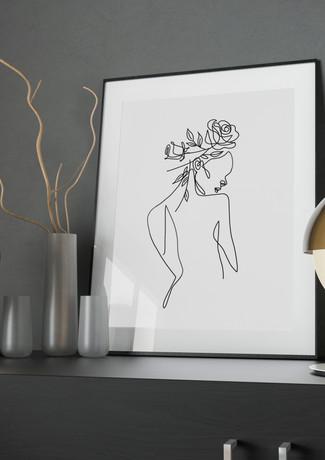Fine Art Line Drawing