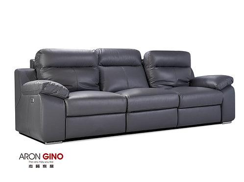 B893/ 3人座皮沙發/原裝進口/雙電動/USB充電/厚牛皮