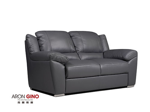 B895/雙人座皮沙發/原裝進口/厚牛皮