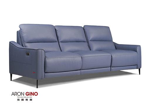 B900/ 3人座皮沙發/原裝進口/單電動/USB充電/厚牛皮