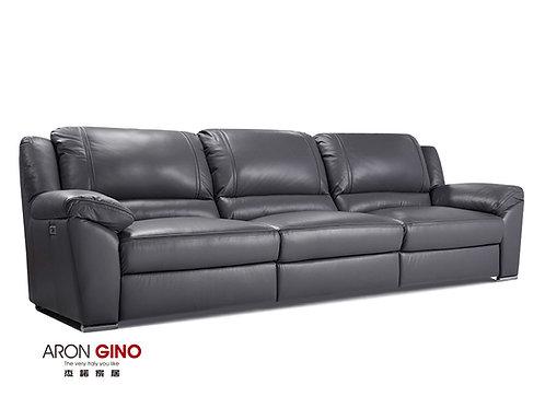 B895/ 3人座皮沙發/原裝進口/單電動/USB充電/厚牛皮