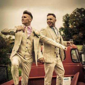 The Grooms, alternative wedding photography. Wedding photographer Birmingham, West Midlands. Gay wedding photographer, LGBT, LGBTQ wedding photography.