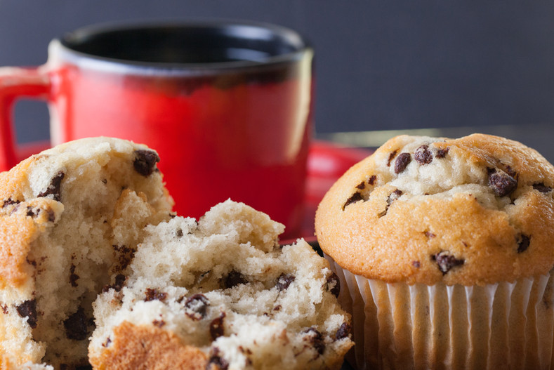 Muffins and Coffee.