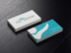 Loud Mouth Marketing business card design for Purely Health Care