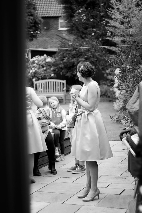 Candid shot of the bride before her big day. Wedding photographer Birmingham.
