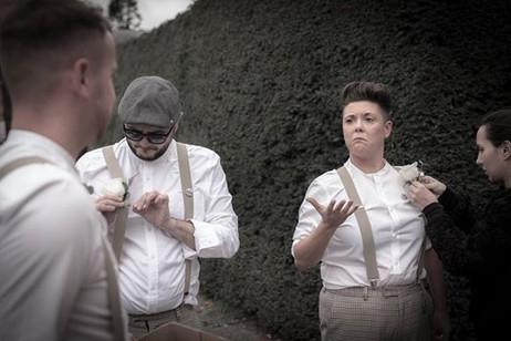 Groomsmen getting ready. Wedding photographer Birmingham, west midlands.