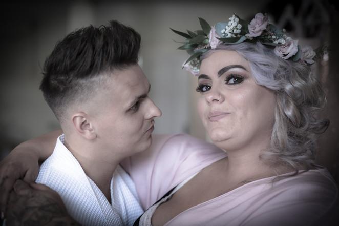 Groom and Bridesmaid prep at Walcot Hall. Wedding photographer Birmingham, West Midlands