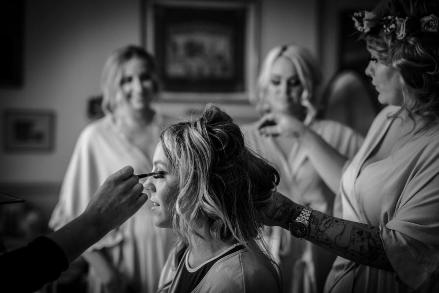 Bridal prep photography at Walcot Hall, Shropshire. Wedding photographer Birmingham, West Midlands.