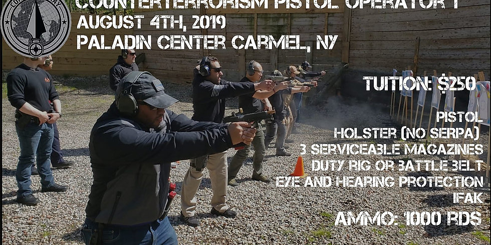 Counter Terrorism Pistol Operator