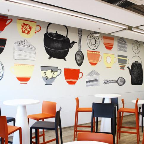 Playfull Office Kitchen