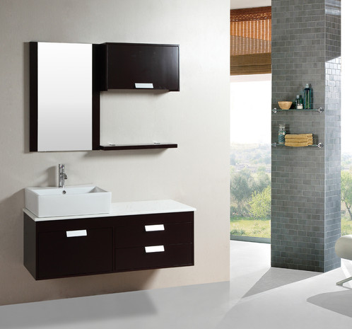 Modern Furniture Single Bathroom Vanity KOKOLS - Single bathroom vanity cabinets