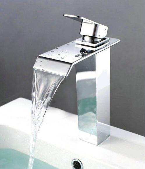 Straight Square Style Bathroom Vessel Sink Faucet | KOKOLS