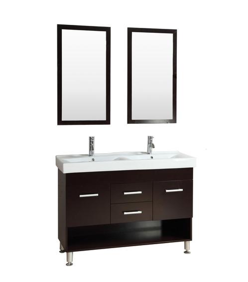 . Bathroom Tempered Glass Vessel Sink Vanity Combo   KOKOLS