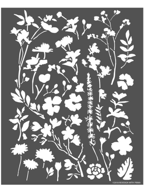 636289 STENCIL 3D - Modern Flora