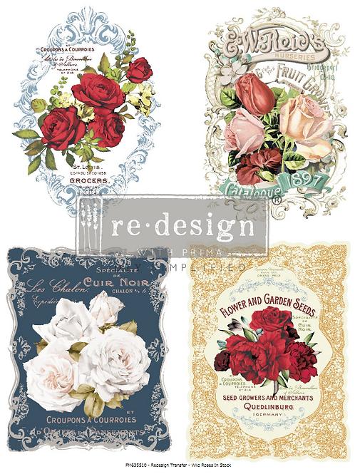 635510 TRANSFER Wild Roses