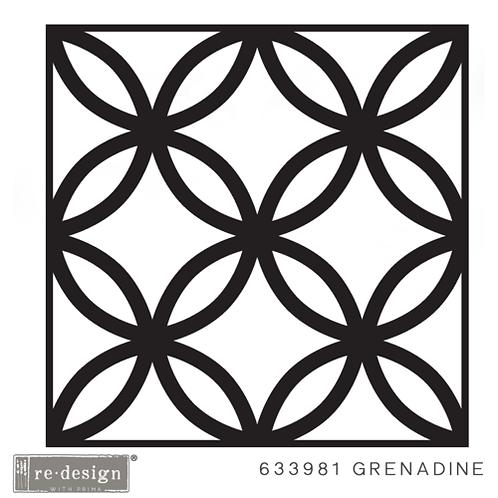 633981 STENCIL PAVER Grenadine