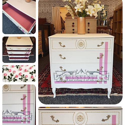 Original 1960's Loius Style Chest of Drawers