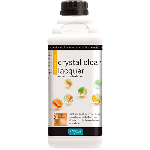 Crystal Clear Laquer Gloss/Satin 100ml