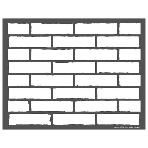 636180 STENCIL 3D - Vintage Brick