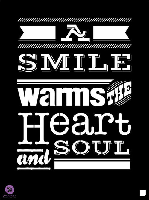 588175 STENCIL A smile warms the heart -PRE-ORDER ONLY