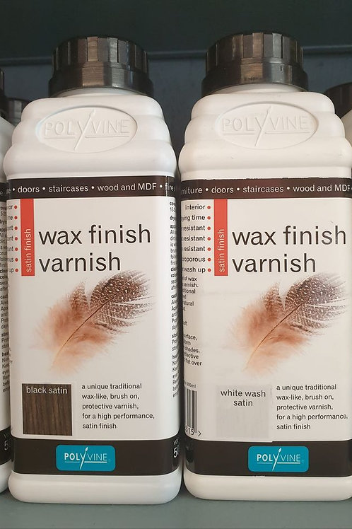 Black & White Wash Satin Finish Wax Varnish 500ml