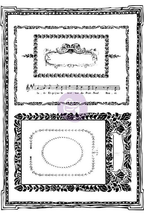 PM814687 - 5x7 Cling Stamps-Mini frames - end of line