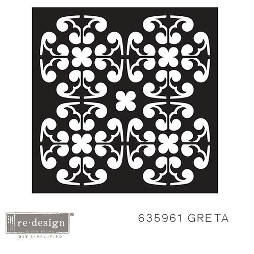 635961 STENCIL PAVER Greta  Discontinued- LAST ONE!