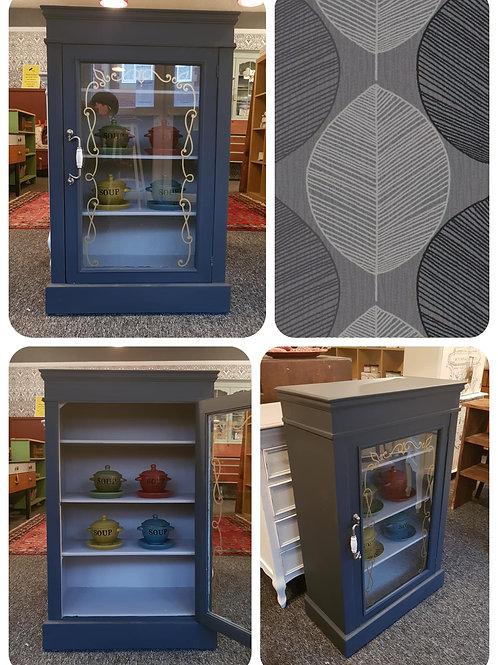 Vintage Solid Pine Display Cupboard