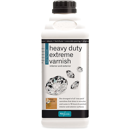 Heavy Duty Extreme Varnish Int. & Ext. Dead Flat or Satin. 1LTR