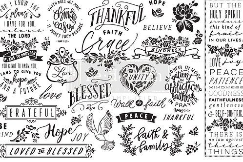 PM645359 - Decor Tissue Paper - Thankful & Blessed