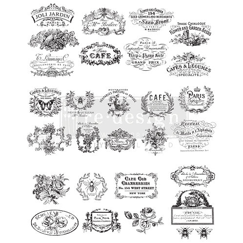 PM646486 - TRANSFER Classic Vintage Labels