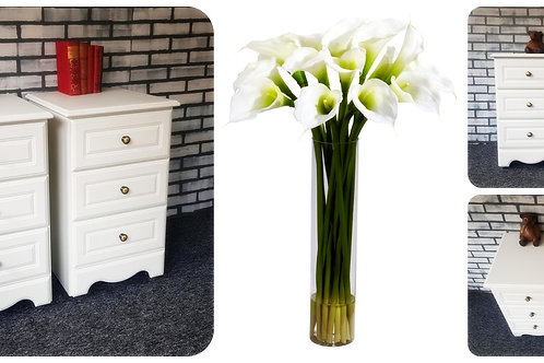 Pair of Modern 3 Drawer Bedside Units