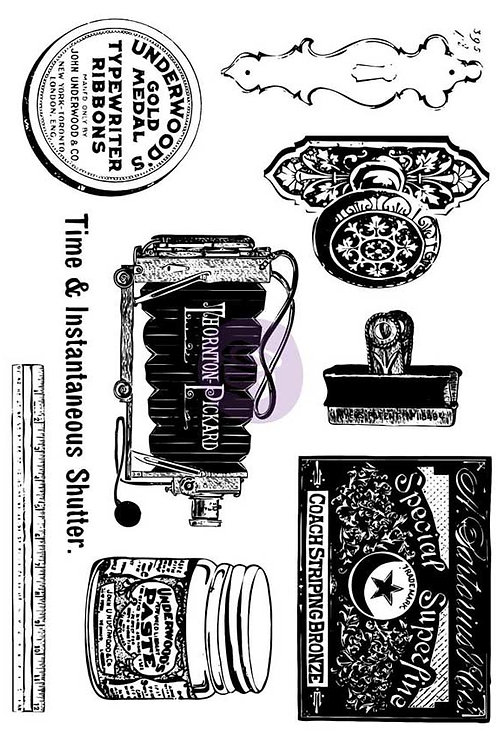 PM814694 - 5x7 Cling Stamps-Curiosities - end of line