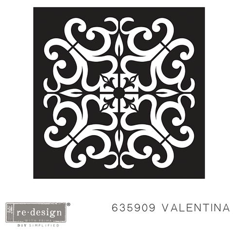 635909 STENCIL PAVER Valentina  Discontinued- LAST ONE!