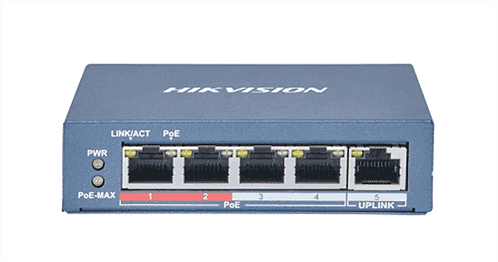 Hikvisiion DS-3E0105P-E(B) 100Mbps 4-ports Unmanaged PoE Switch