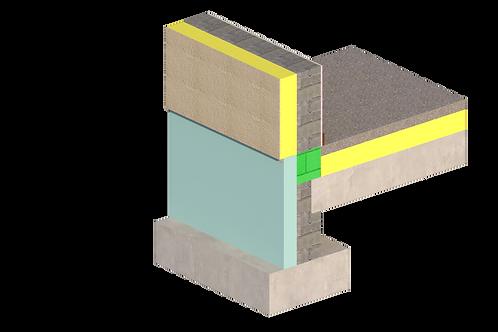 Thermal Bridging - External Insulation - 001 - Footing