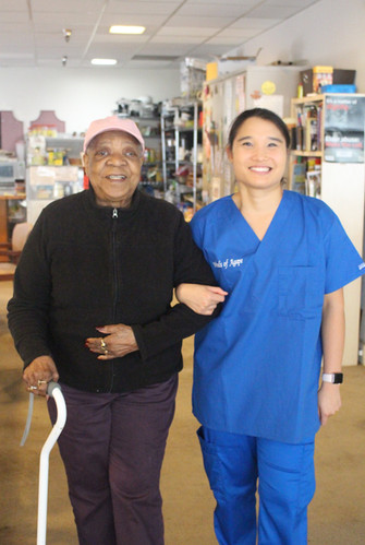 Winds of Agape Home Health Aide provides 1 to 1 assistance SDP Participant