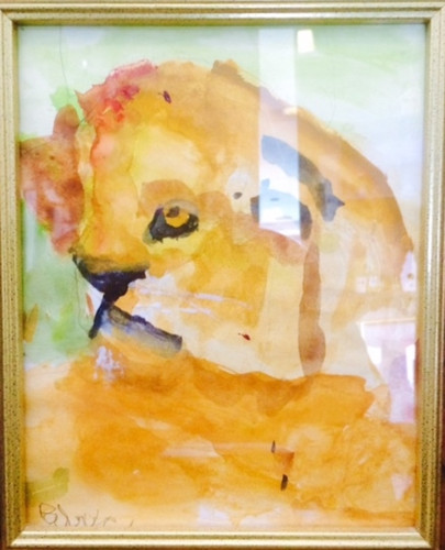Watercolor painting of a Lioness by SDP Participant