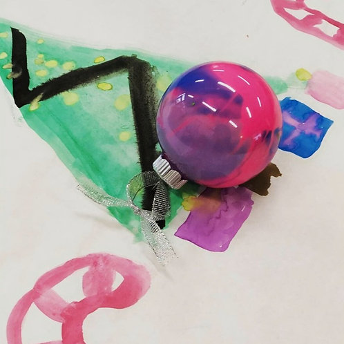 """Inside out"" paint ornaments"