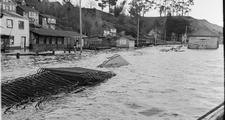 40.Obras Portuarias inundadas.