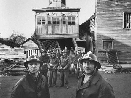 Incendio de Castro posterior a terremoto de 1960