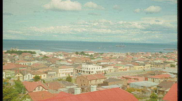 Vista de Punta Arenas, enero 1965.