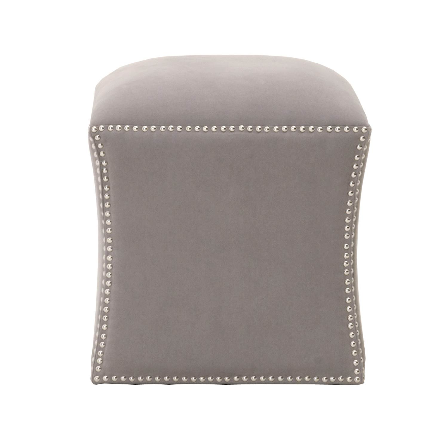 York Square Footstool - Ash - 1