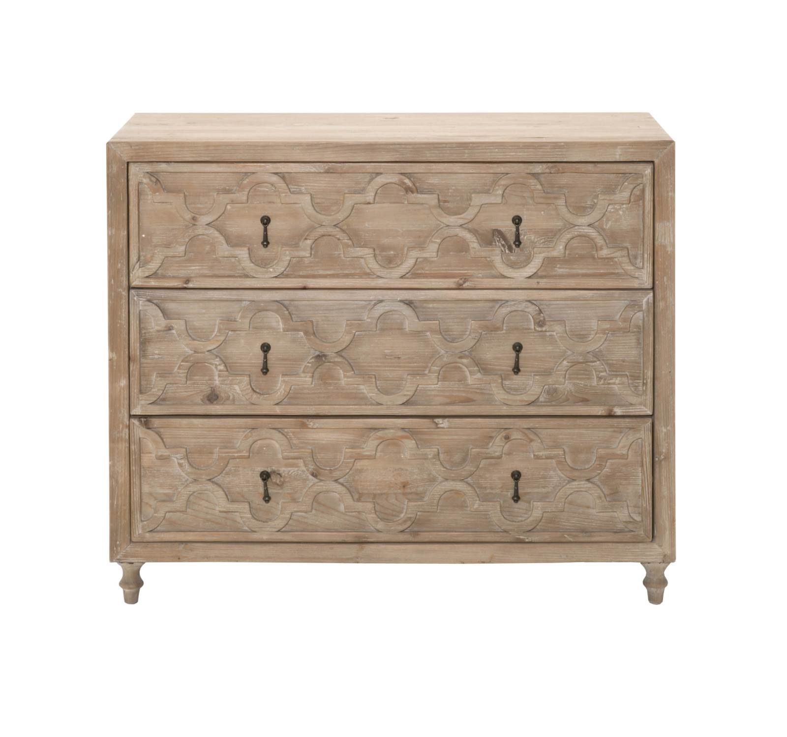 Clover Entry Cabinet Smoke Gray 1