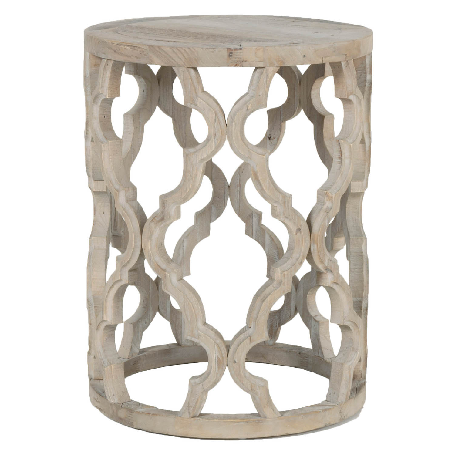 Clover End Table - Smoke Gray - 1